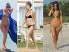 Veja os biquínis que Kim Kardashian e mais famosas estão usando no verão do Hemisfério Norte