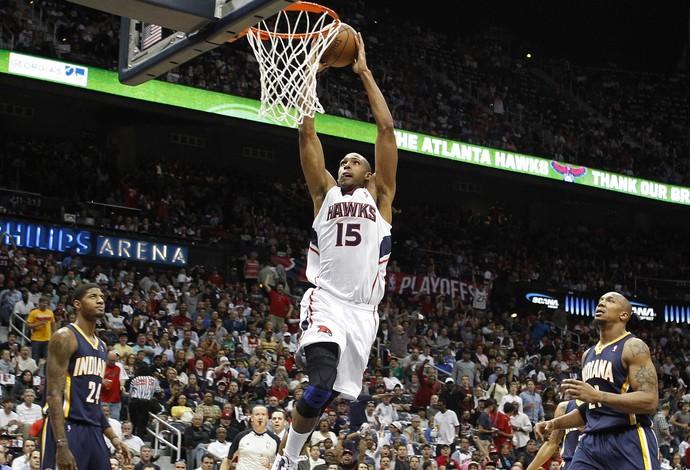 Al Horford Atlanta Hawks contra Indiana Pacers (Foto: AFP)