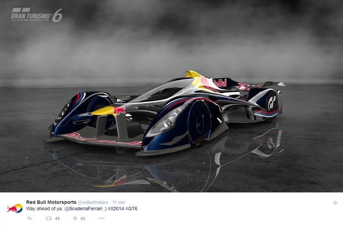 Protótipo da RBR para o jogo Gran Turismo 6  (Foto: Reprodução/Twitter)