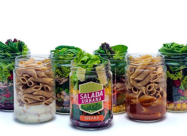 Potes de massas e saladas do Salada urbana (Foto: Divulgação)
