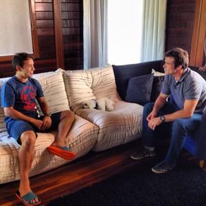 Thiago Asmar e Éverton Ribeiro (Foto: Guilherme Laars)