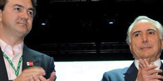 O empresário Joesley Batista e o presidente Michel Temer (Foto: João Quesada)
