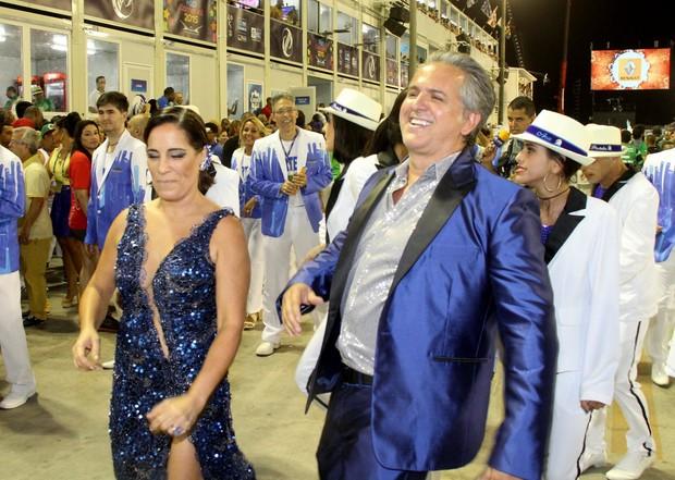 Gloria Pires com o marido Orlando (Foto: Thyago Andrade/ Foto Rio News)
