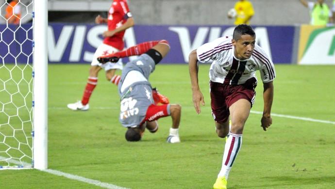 Cicero Marca gol do Fluminense contra o América-RN (Foto: Anderson Stevens / Photocamera)