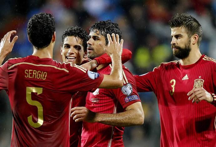 Diego Costa gol Espanha (Foto: EFE)
