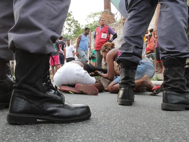 Familiares da vítima disseram que o motorista derrubou o flanelinha do ônibus em São Luís (Foto: Biaman Prado / O Estado)