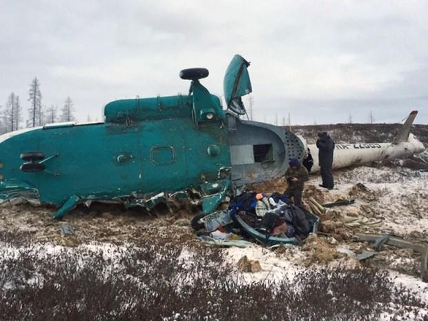 Queda de helicóptero na Rússia deixa 19 mortos e 3 feridos.