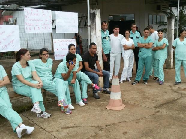 Enfermeiros de Colíder aderiram à paralisação dos profissionais em Sinop e Alta Floresta (Foto: Adriano Noquele/ Arquivo pessoal)