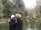 Depois de Dubai, Belo e Gracyanne Barbosa fazem turismo em Portugal