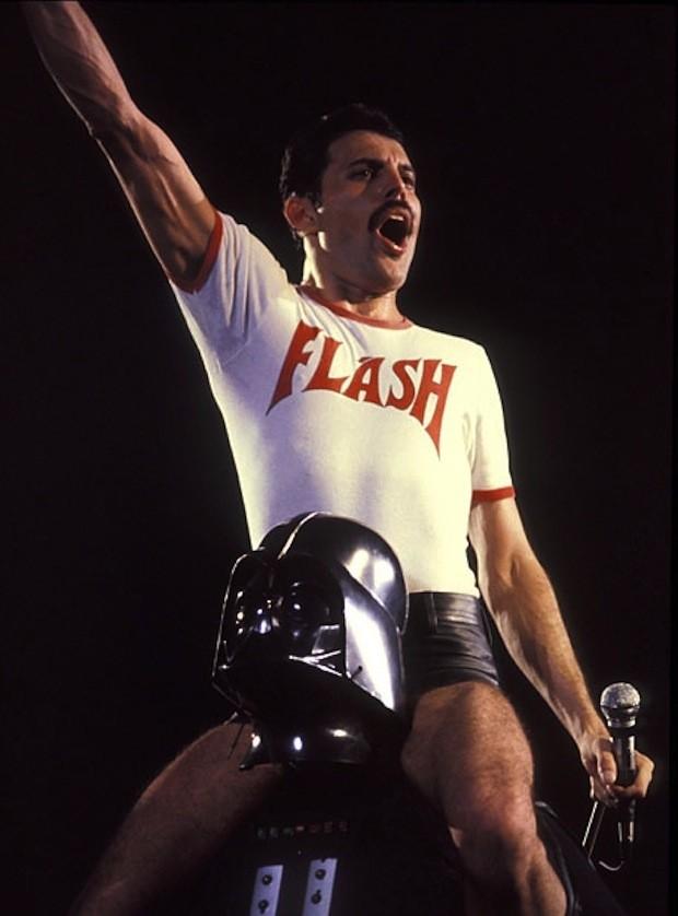 Freddie Mercury e Darth Vader (Foto: .)