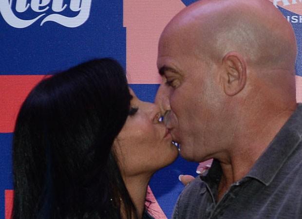 Gretchen e o marido, Carlos Marques (Foto: Francisco Cepeda/AgNews)
