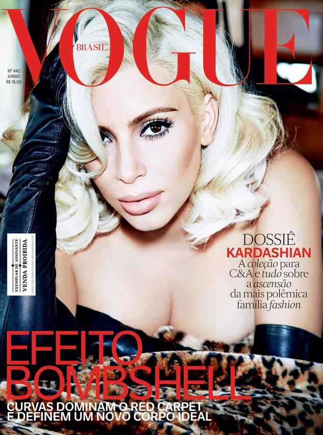 Kim Kardashian na capa da Vogue Brasil de junho de 2014 Foto Ellen Von Unwerth Arquivo Vogue