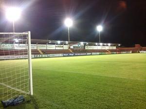 Estádio Ninho da Águia, em Rio Brilhante (Foto: Marcus Vinicius/TV Morena)