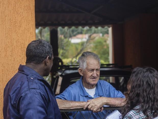Idoso de Santa Eudóxia conheceu escravo Pata Seca (Foto: Fabio Rodrigues/G1)
