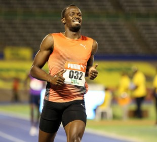 Usain Bolt seletiva jamaicana (Foto: Reuters)