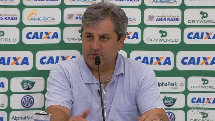 Gilson Kleina, técnico do Goiás (Foto: Reprodução/TV Anhanguera)