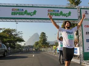 Duda Nagle na chegada da Corrida e Caminhada Criança Esperança 2013 no Rio de Janeiro (Foto: Divulgação/Isabel Butcher)