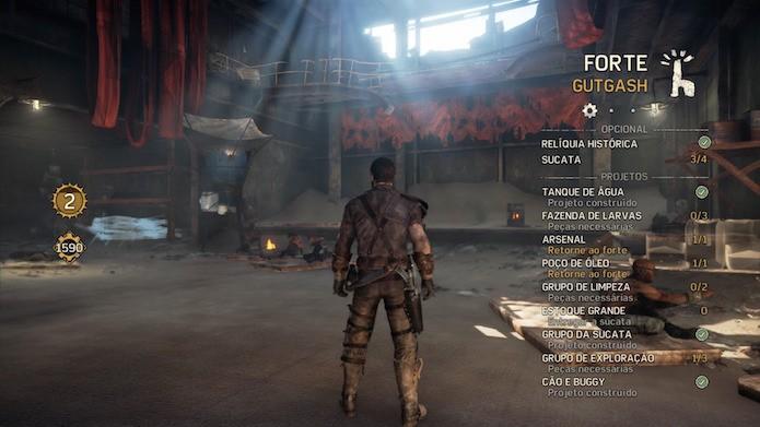 Mad Max: saiba como aprimorar os fortes no game de PS4, Xbox One e PC (Foto: Reprodução/Victor Teixeira)