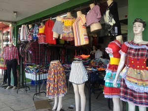 comércio, festas juninas, vendas, roupas, acessórios, macapá, Amapá (Foto: Jéssica Alves/G1)