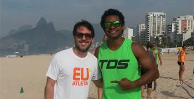 """Leo Velasco e Bruno """"Sapo"""" (Foto: Arquivo Pessoal)"""