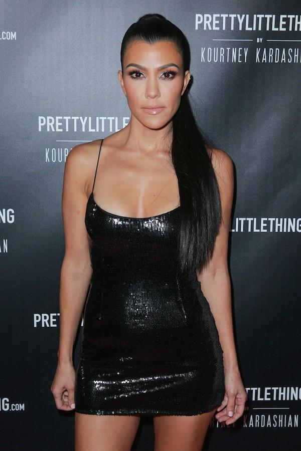 A socialite Kourtney Kardashian no lançamento da nova coleção de sua grife pessoal (Foto: Getty Images)