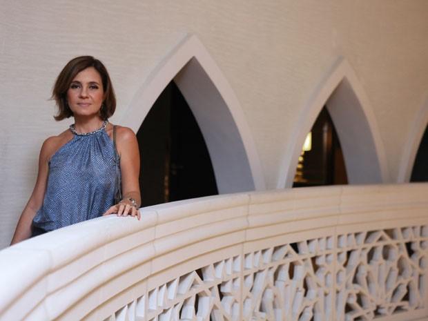 Adriana não esconde a alegria de participar deste trabalho (Foto: Isabella Pinheiro/Gshow)