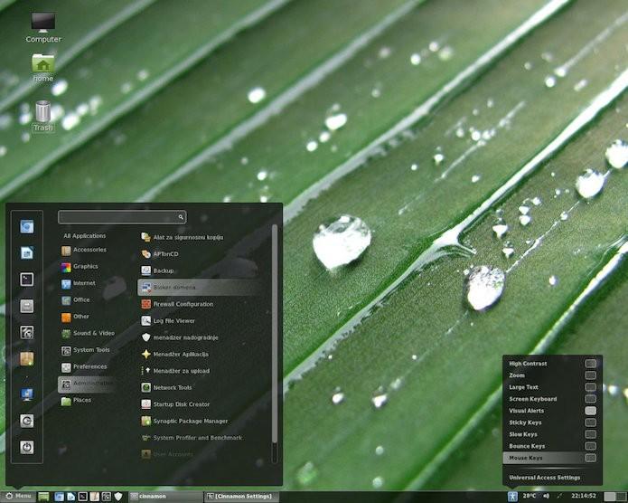 Cinnamon é um ambiente de trabalho inspirado no Windows clássico (Foto: divulgação/Cinnamon)