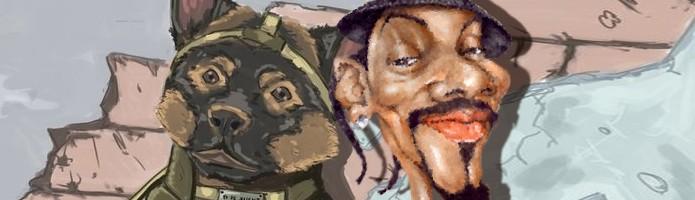 Snoop Dogg substitui o narrador do jogo em um inusitado DLC (Foto: bonuschita / toonpool.com)
