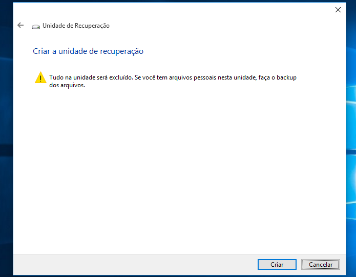 Alerta informa que o pen drive será formatado (Foto: Reprodução/Helito Bijora)