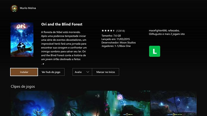 Faça o download de Ori and the Blind Forest (Foto: Reprodução/Murilo Molina)