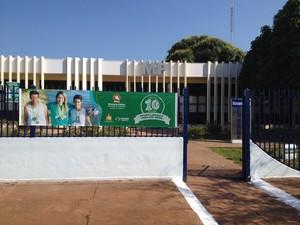Prédio do Ministério Público em Guajará-Mirm (Foto: Dayanne Saldanha/G1)