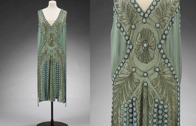 "A silk georgette and glass-beaded ""Salambo"" dress by Jeanne Lanvin, Paris, 1925. Previously owned by Miss Emilie Busbey Grigsby, and gifted to the Victoria & Albert by Lord Southborough (Foto: V&A)"