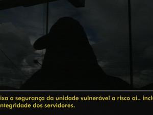 Agente reclama da superlotação em presídio de Cerqueira César (Foto: Reprodução/TVTEM)