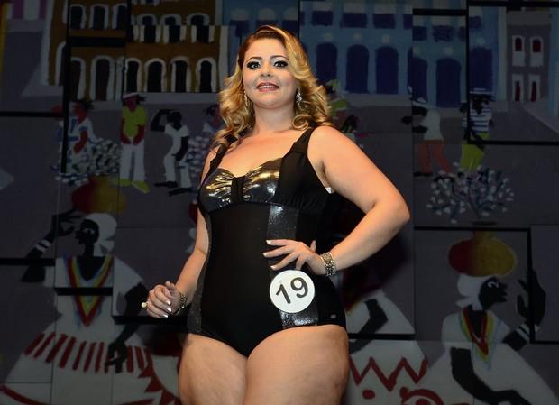 Milian Aquarelo, a vencedora do concurso A mais linda gordinha do Brasil (Foto: Roberto Teixeira/EGO)
