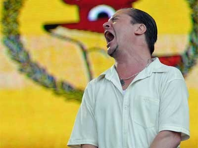 Mike Patton no Lollapalooza (Foto: Flavio Moraes/G1)