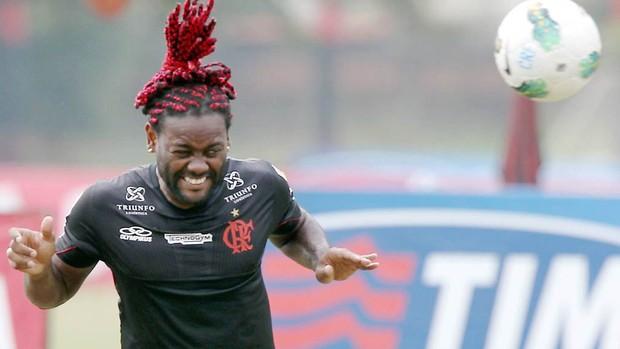 Vagner Love treino do Flamengo (Foto: Cezar Loureiro / Agencia O Globo)