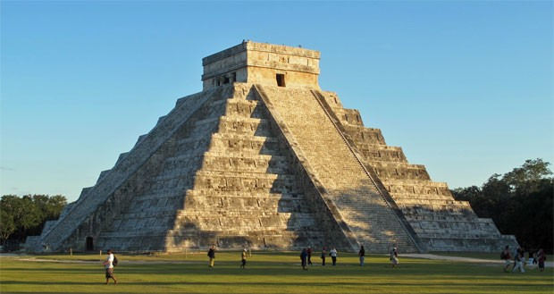 Pirâmide maia de Chichen Itza, no sul do México (Foto: Dennis Barbosa/G1)