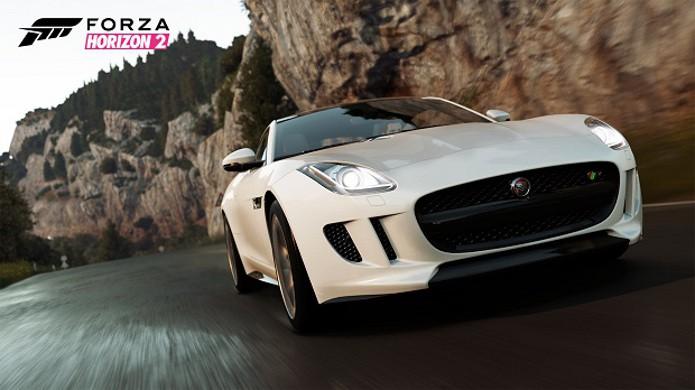 Jaguar F-Type R Coupe 2015 estará no pacote Mobil 1 Car Pack de Forza Horizon 2 (Foto: Divulgação)