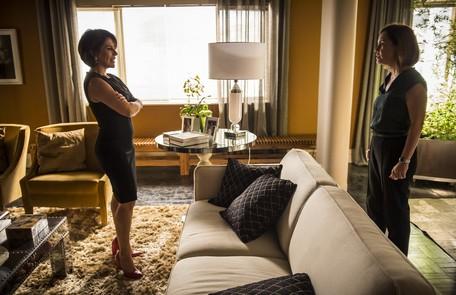 Gloria Pires está no ar em 'Babilônia', novela em que contracena com Adriana Esteves Alex Carvalho/ TV Globo