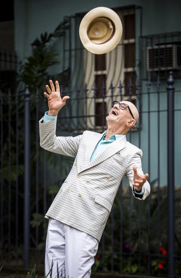 Marcos Caruso divertiu na pele do bon-vivant Pedrinho Guimarães (Foto: Divulgação/TV Globo)