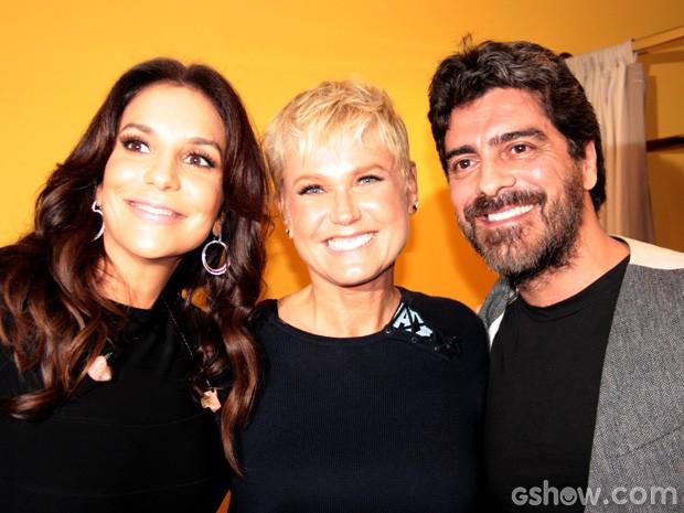 Ivete Sangalo invade o camarim de Xuxa e Junno antes do Altas Horas (Foto: TV Globo/Altas Horas)