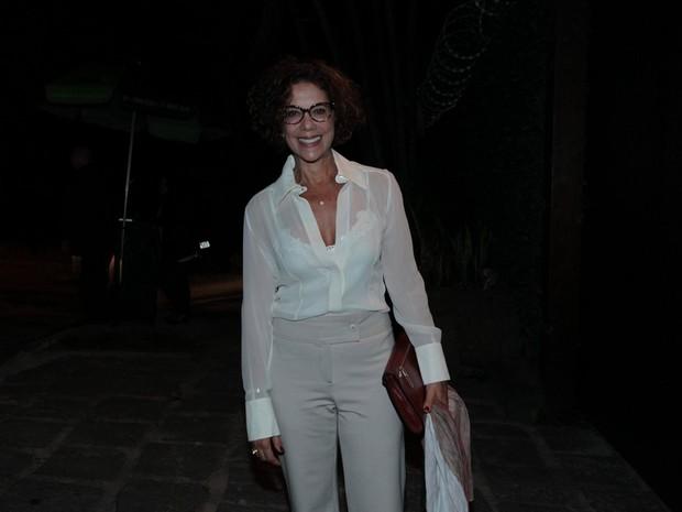 Ângela Vieira em festa na Zona Sul do Rio (Foto: Marcello Sá Barretto/ Ag. News)