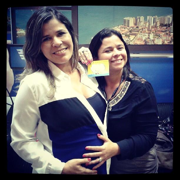 Dione Aguiar e Nina Barbosa (Foto: Arquivo Pessoal/Dione Aguiar)
