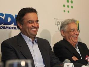 O senador Aécio Neves (PSDB-MG) e o ex-presidente Fernando Henrique Cardoso (Foto: Divulgação/PSDB)