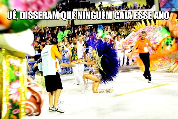 Memes do Desfile das Campeãs (Foto: Claudio Andrade / EGO)