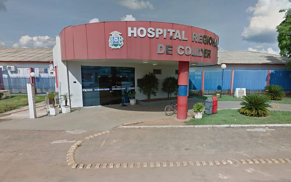 Hospital Regional de Colíder também está na lista das unidades que tiveram situação de emergência decretada (Foto: Reprodução/Google Maps)
