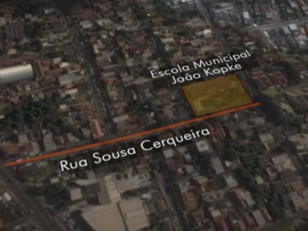 Escola é invadida em Piedade (Foto: Reprodução/TV Globo)