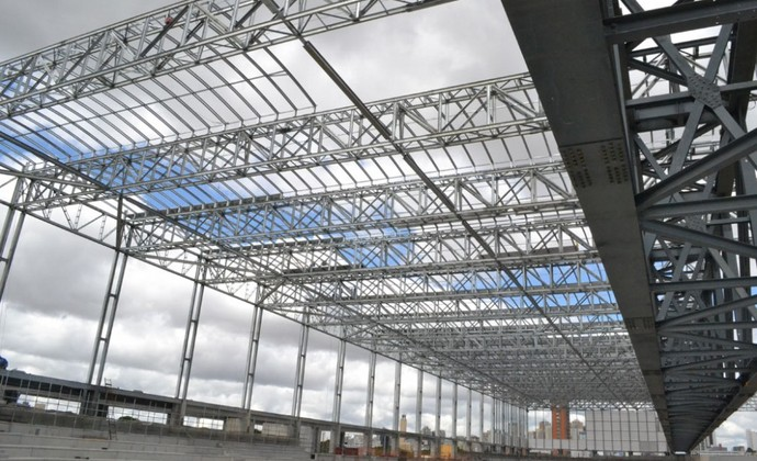Cobertura da Arena da Baixada, estádio do Atlético-PR (Foto: Site oficial do Atlético-PR/Divulgação)