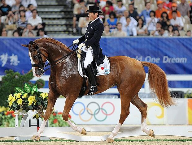 Hiroshi Hoketsu cavaleiro olimpíadas  (Foto: AFP)