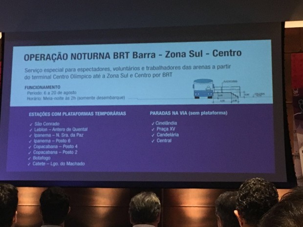 Prefeitura detalha serviço de BRT noturno nas olimpíadas (Foto: Fernanda Rouvenat/G1)